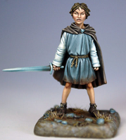 Arya Stark ; © 2009, Dark Sword Miniatures Inc.