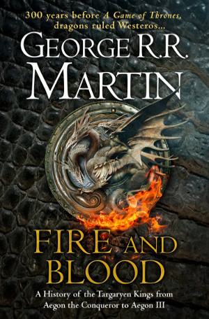 Couverture UK de Fire and Blood (© HarperCollins Voyager)